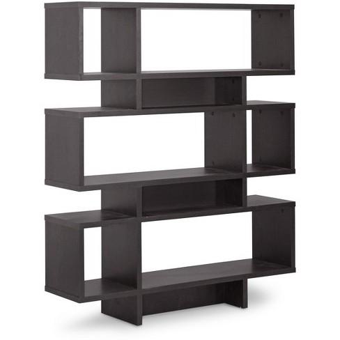 Cassidy 526 6 Level Modern Bookshelf Dark Brown