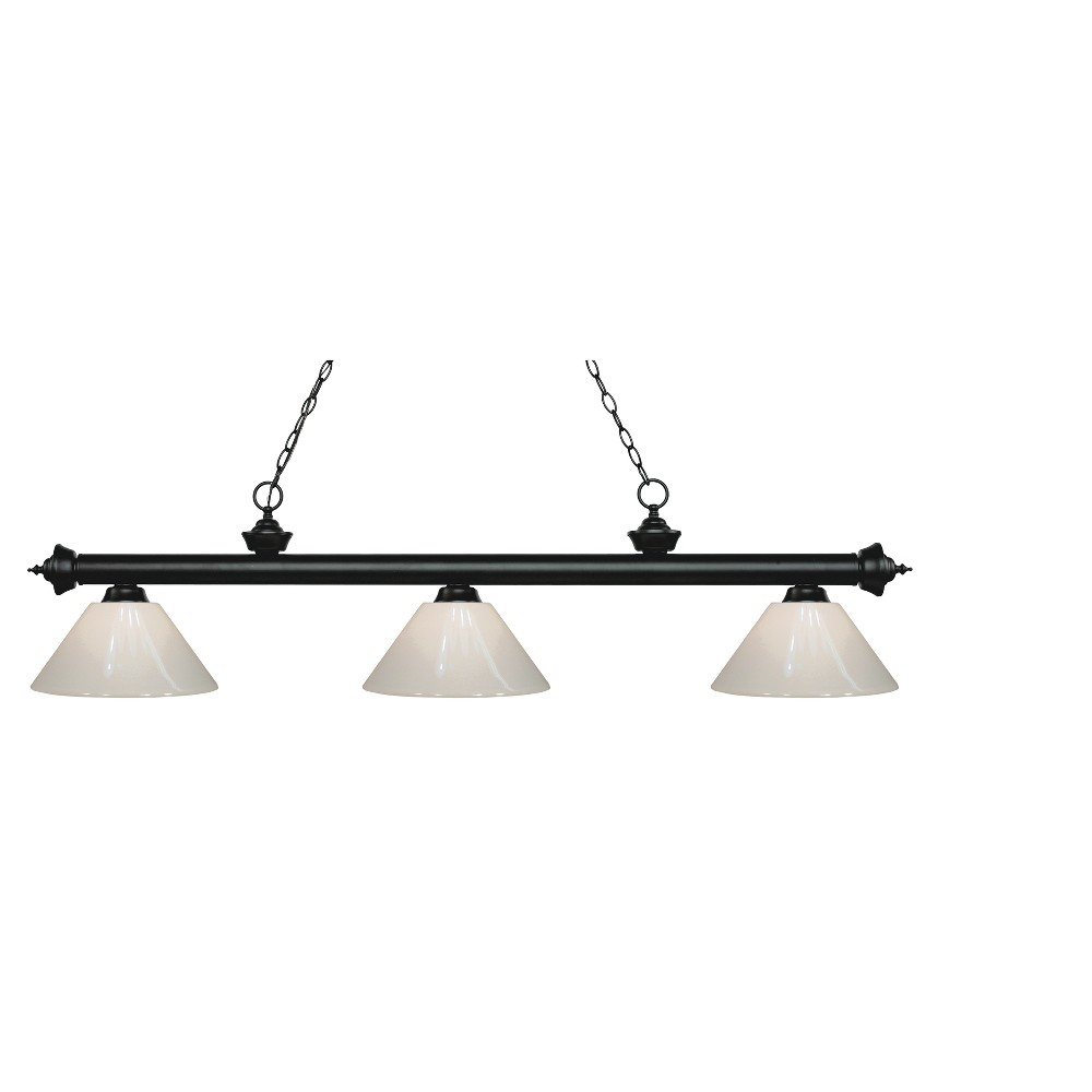 Billiard Ceiling Lights with White Glass (Set of 3) - Z-Lite