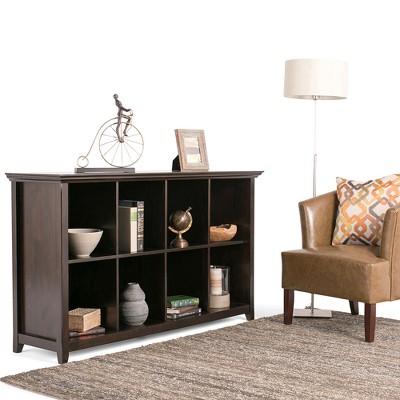 Superbe Amherst 8 Cube Storage/Sofa Table   Dark Brown   Simpli Home
