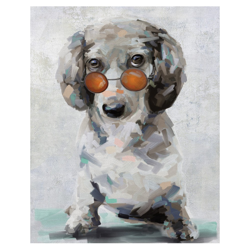 """Image of """"22""""""""x28"""""""" Shady Pups II By Studio Arts Art On Canvas - Fine Art Canvas, Multi-Colored"""""""