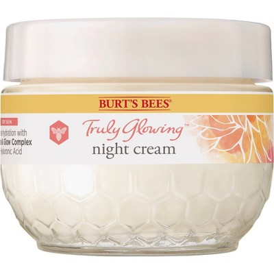 Burt's Bees Truly Glowing Night Cream for Dry Skin - 1.8oz