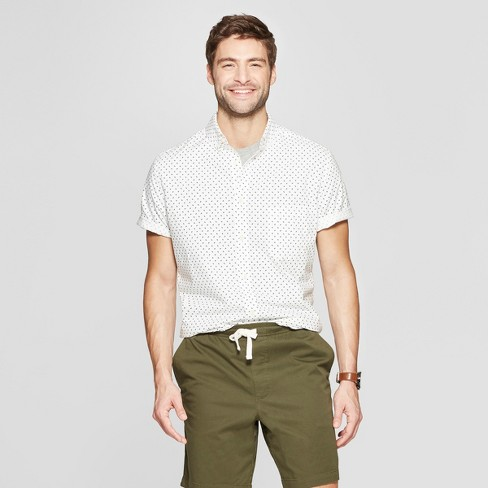 Men's Printed Slim Fit Short Sleeve Button-Down Shirt - Goodfellow & Co™ - image 1 of 3