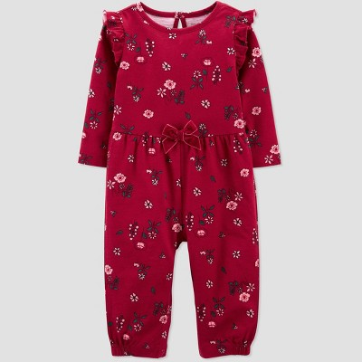 Baby Girls' Floral Rompers - Just One You® made by carter's Red 6M