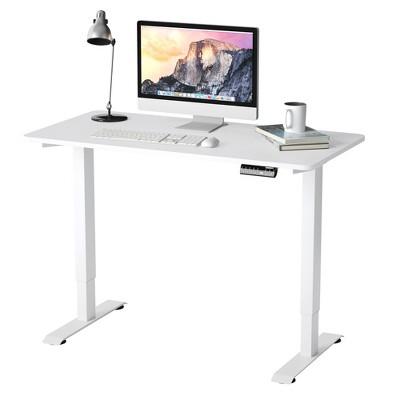 Costway Electric Adjustable Standing Desk Stand up Workstation w/Control White\Black\ Maple\Teak