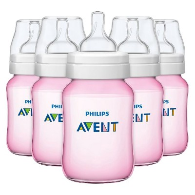 Philips Avent Anti-colic Baby Bottle 260ML/9oz 5pk - Pink