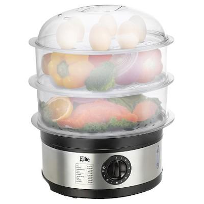 Elite Platinum 3-tier 8.5-Quart Food Steamer