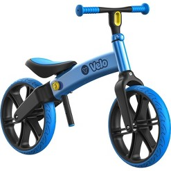 Yvolution Y Velo Senior NoPedals Training Balance Bike for Kids Ages 3 to 5 Years Old - Blue, Kids Unisex