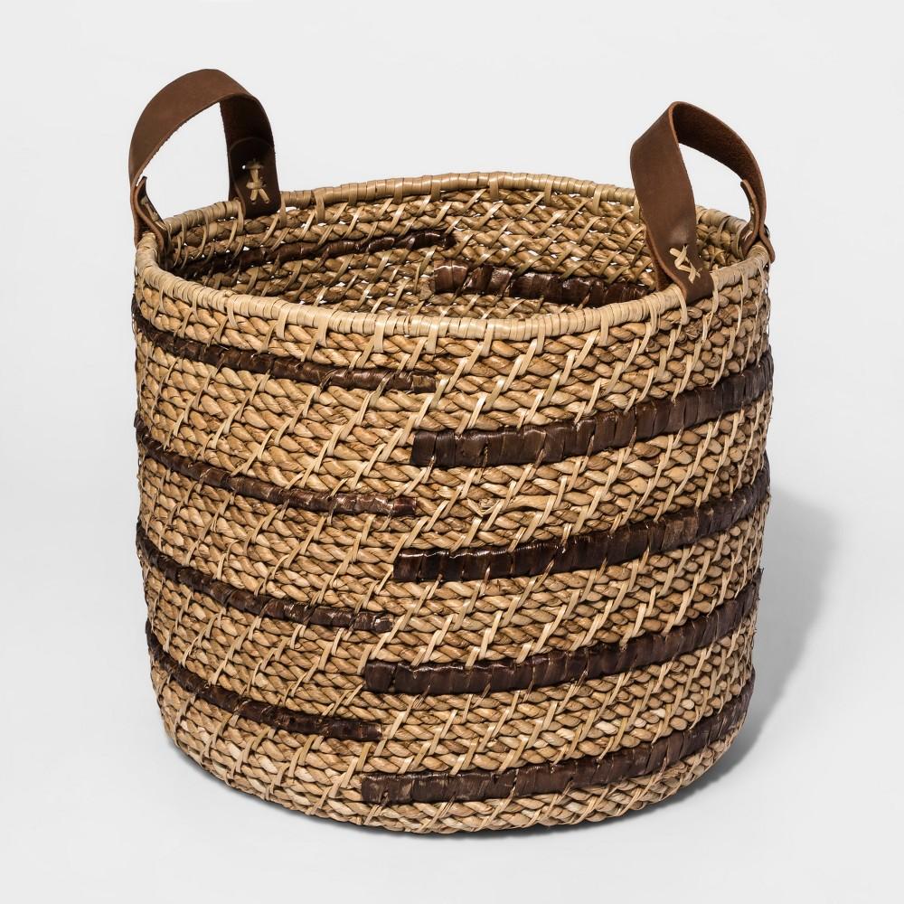 Decorative Basket Water Hyacinth - Threshold, Brown