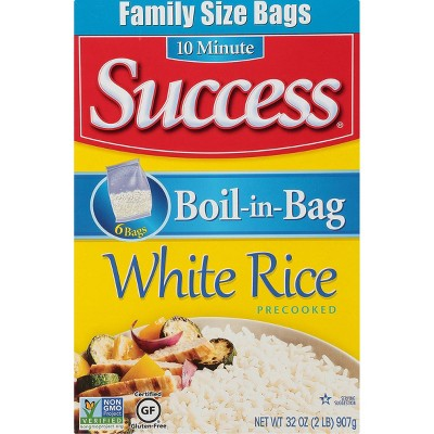 Success Family Size Boil-in-Bag White Rice - 2lbs/6ct