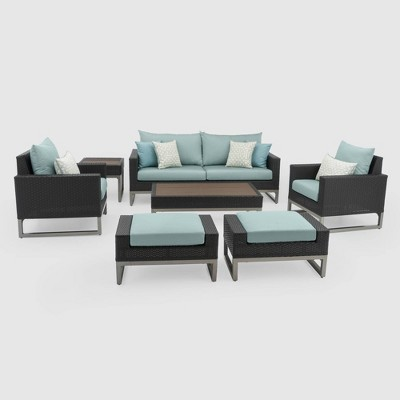 Milo Espresso 7pc Deep Seating Set - RST Brands