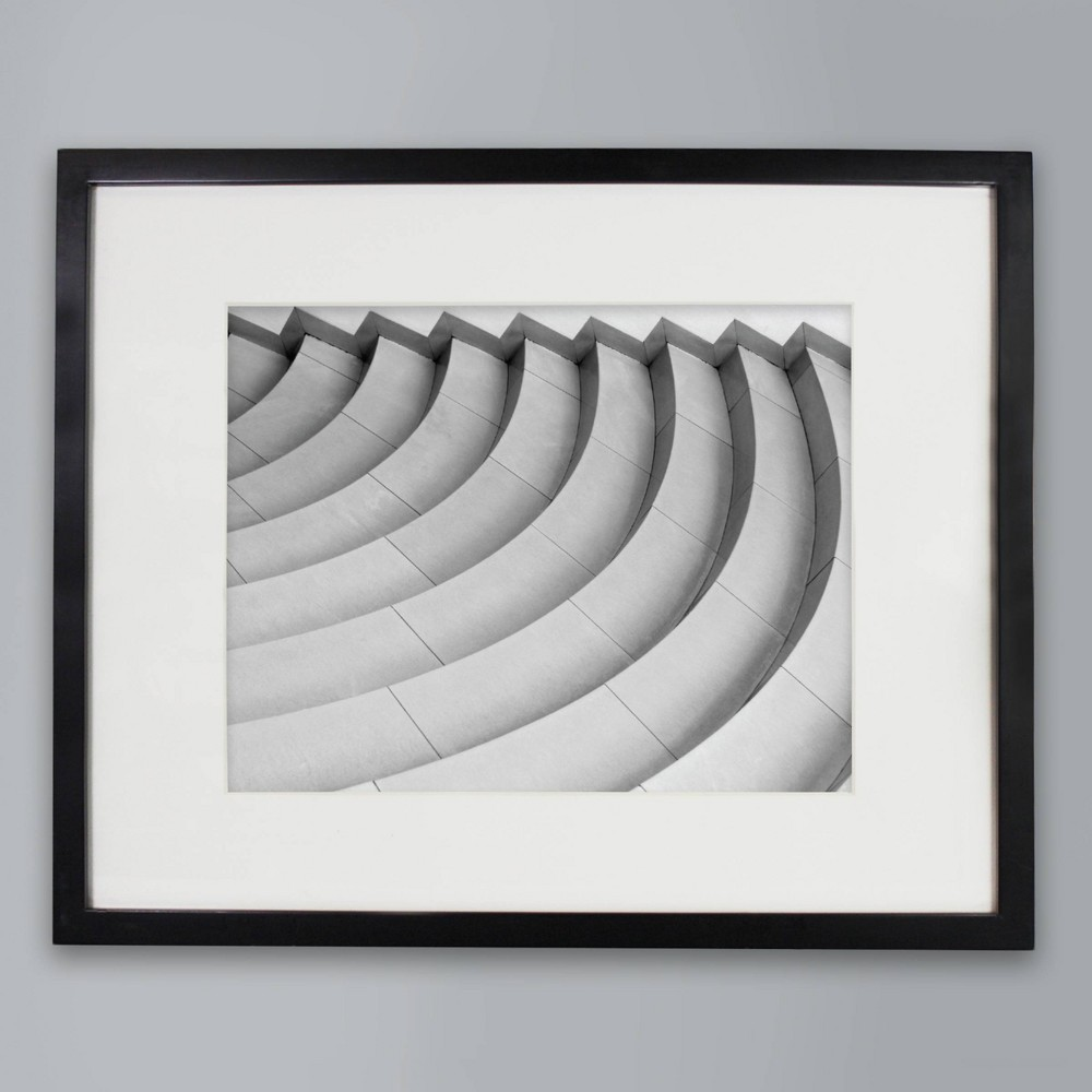 """Image of """"11"""""""" x 14"""""""" Matted Wood Frame Black - Made By Design"""""""