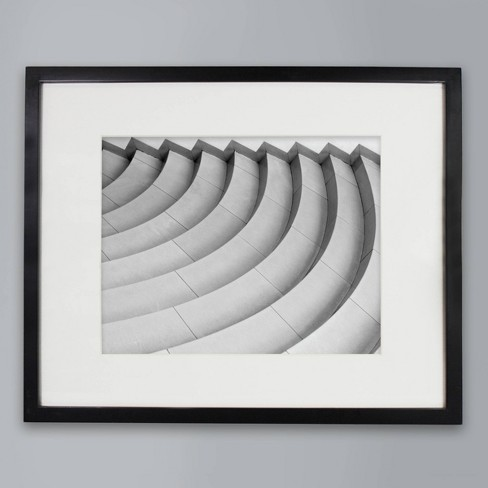 """11"""" x 14"""" Matted Wood Frame Black - Made By Design™ - image 1 of 4"""
