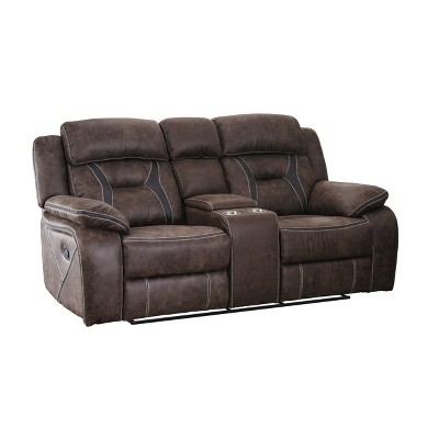 Reed Loveseat Brown - HOMES: Inside + Out
