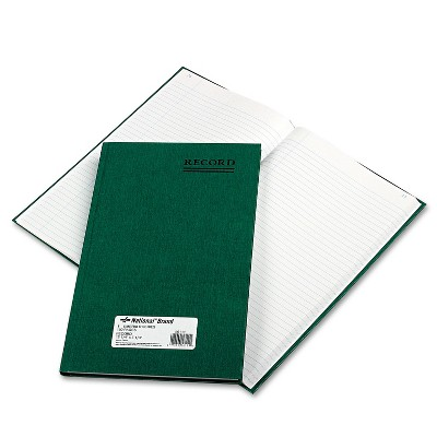 National Emerald Series Account Book Green Cover 150 Pages 12 1/4 x 7 1/4 56111