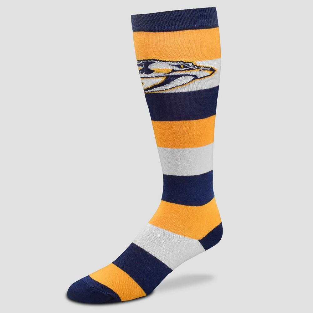 NHL Nashville Predators Neopolitan Knee High Socks - M, Women's