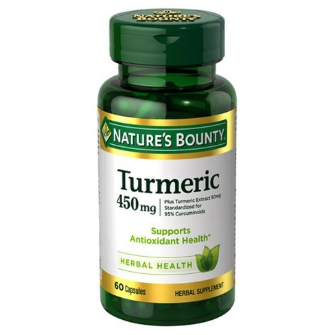 Nature's Bounty Turmeric Dietary Supplement Capsules - 60ct - image 1 of 1