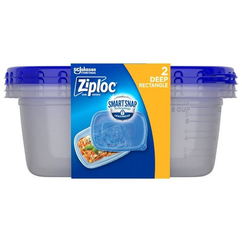 Ziploc Rectangle Containers with Smart Snap Technology - 2ct - image 1 of 4