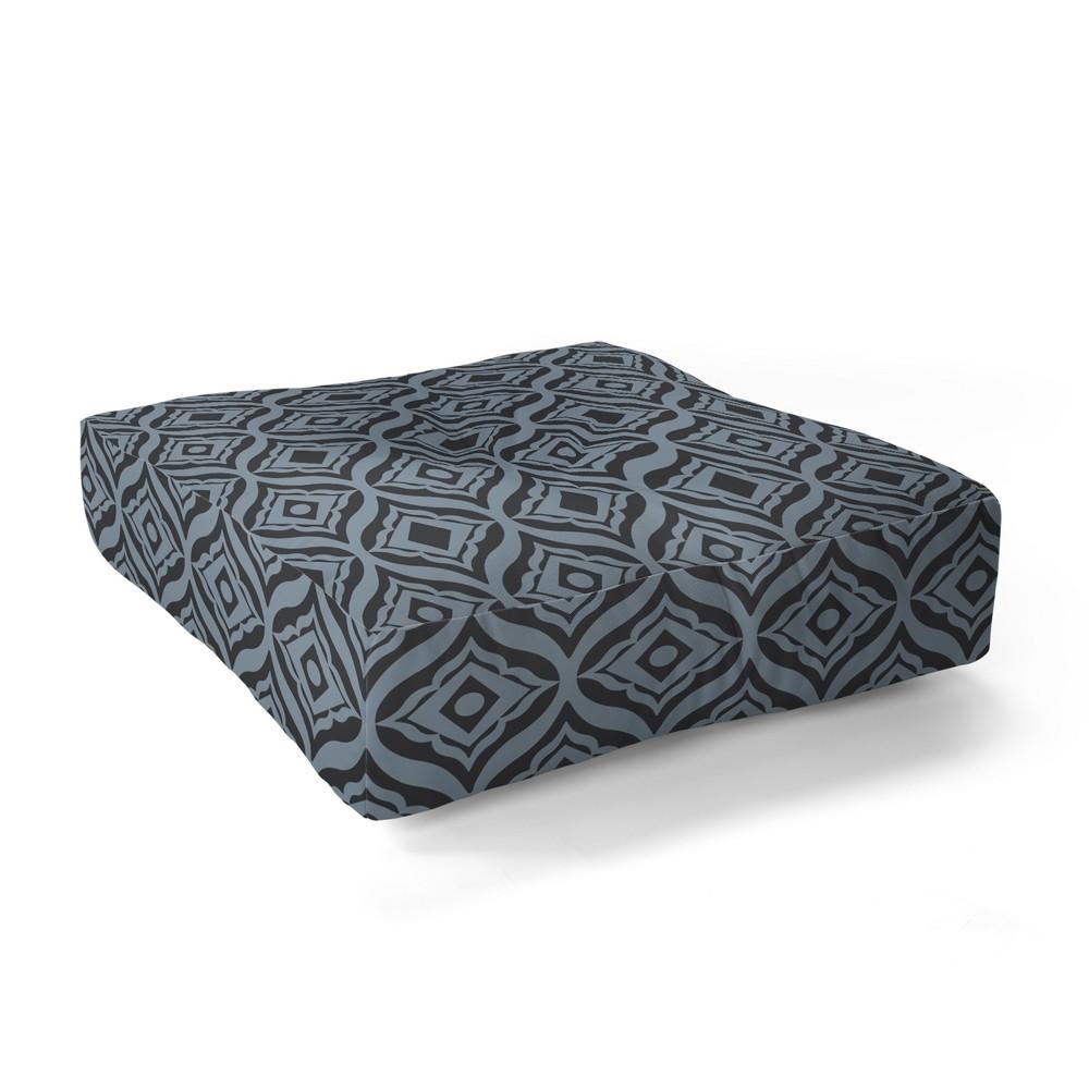 Best Shopping 23x23 Heather Dutton Trevino Dusk Floor Pillow Blue Deny Designs