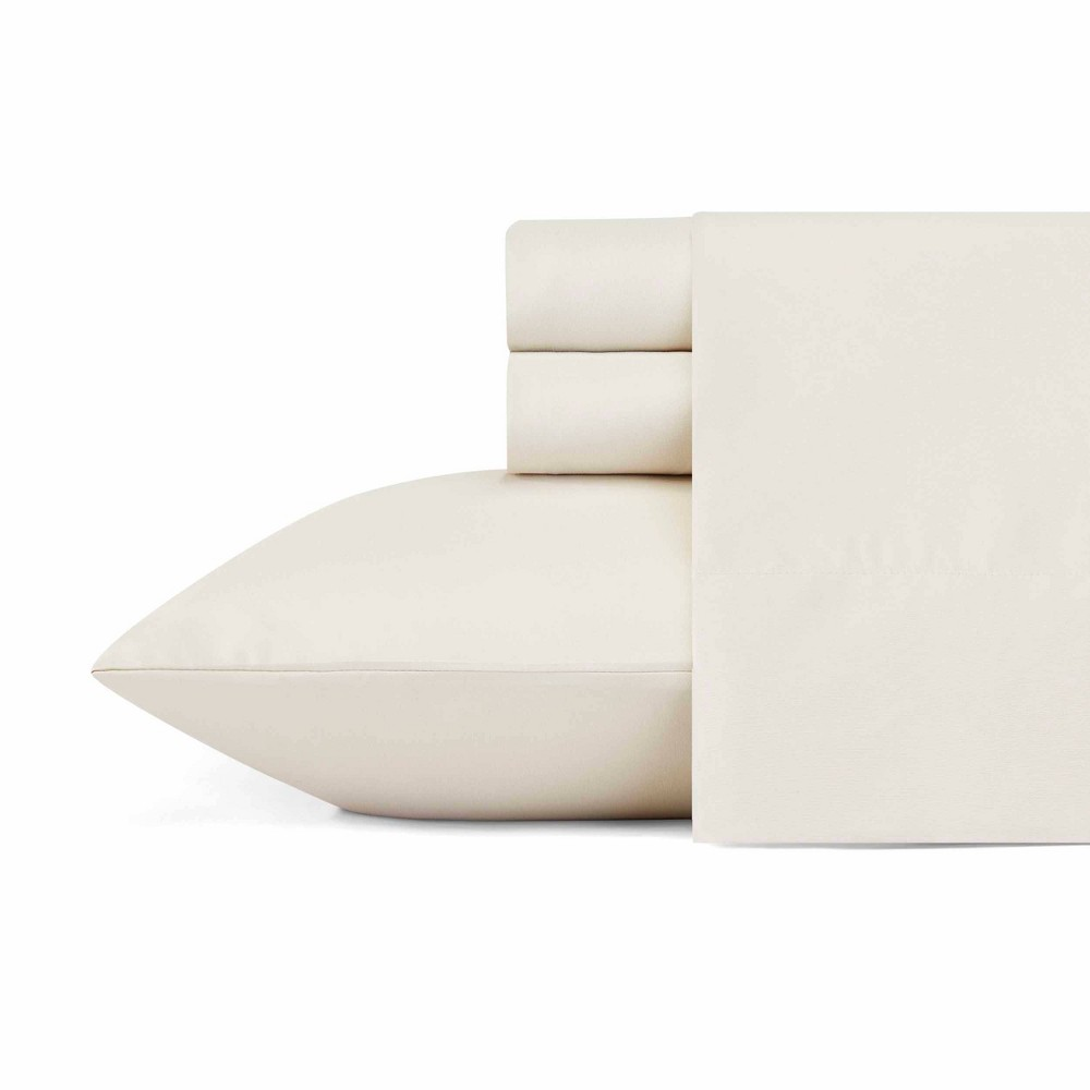 Image of Full Solid Microfiber Sheet Set Oyster - Eddie Bauer