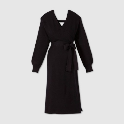 Long Sleeve Wrap Sweater Maternity Dress - Isabel Maternity by Ingrid & Isabel™