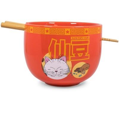 Just Funky Dragon Ball Z Karin Japanese Dinnerware Set | 16-Ounce Ramen Bowl and Chopsticks