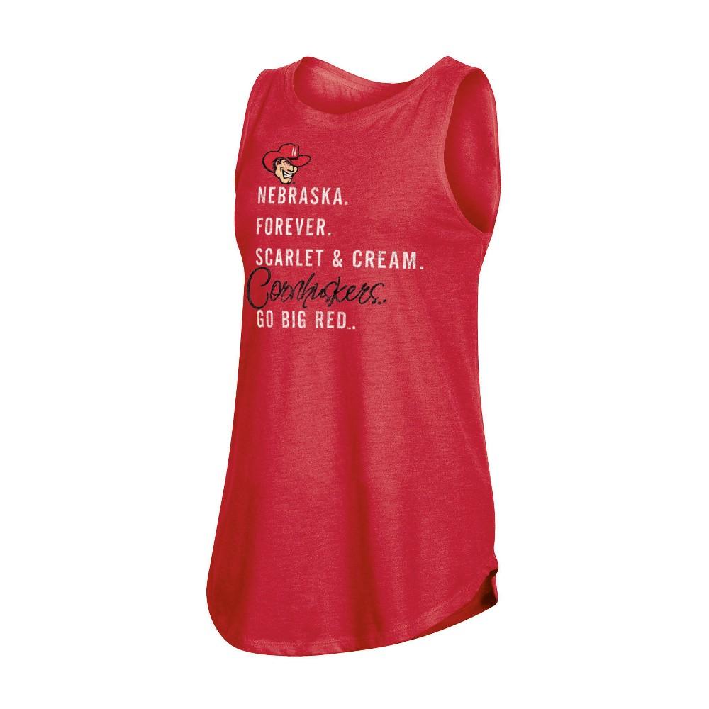 NCAA Women's Heather Tank Top Nebraska Cornhuskers - S, Multicolored