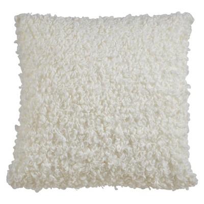 "18""x18"" Faux Lamb Fur Square Pillow Cover - Saro Lifestyle"