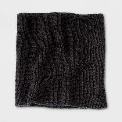 Men's Knit Neck Warmer - Goodfellow & Co™ Black One Size