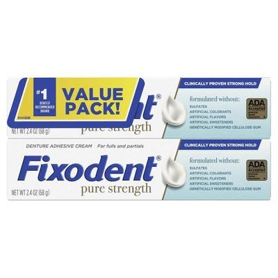 Denture Fixodent Pure - 2.4oz/2pk