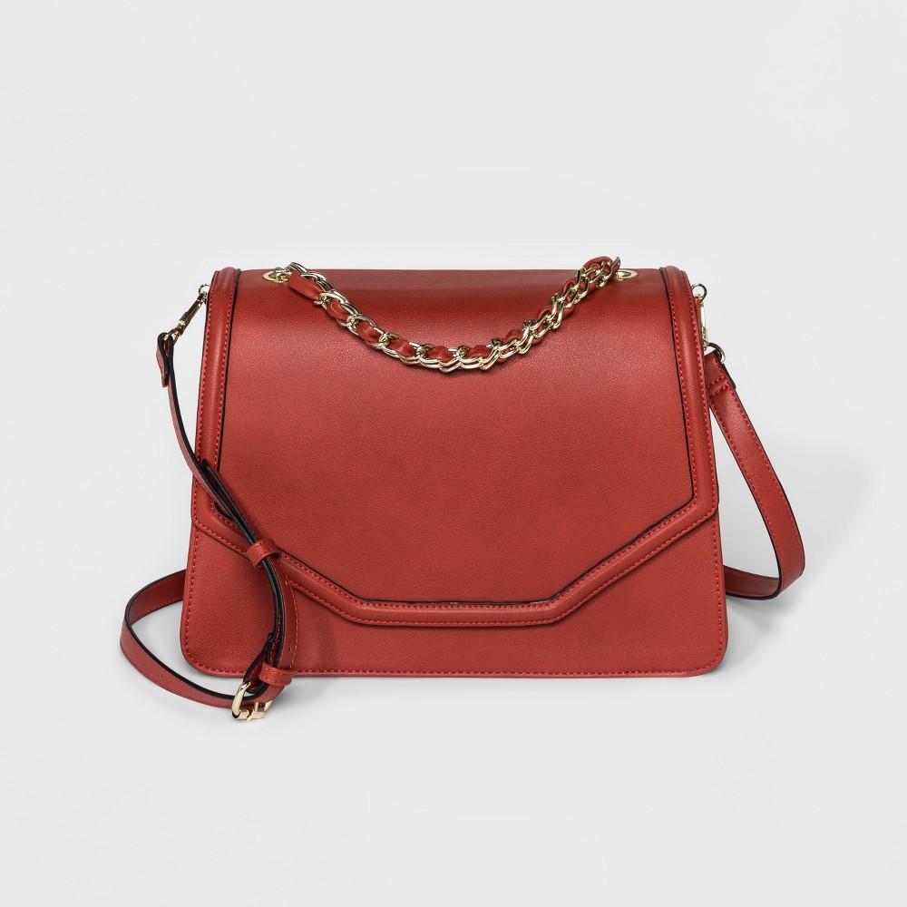 Image of Borsani Jayden Satchel Handbag - Crimson, Women's, Red