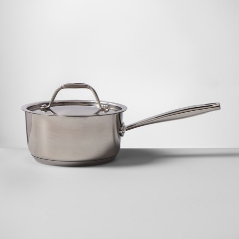 Stainless Steel Covered Saucepan - Made By Design™ - image 1 of 5