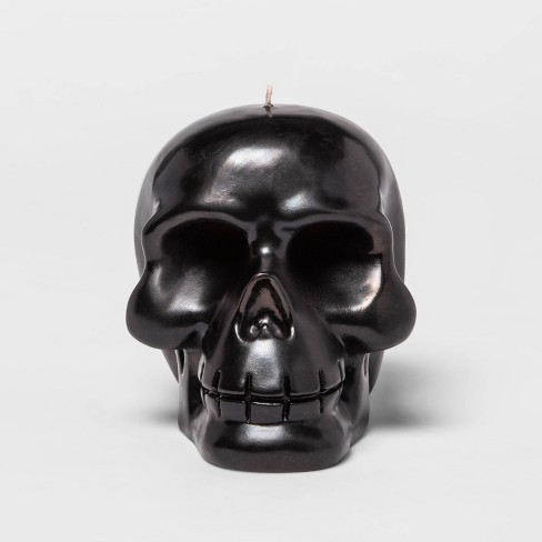 Black Metallic Bleeding Skull Halloween Candle - Hyde & EEK! Boutique™ - image 1 of 3