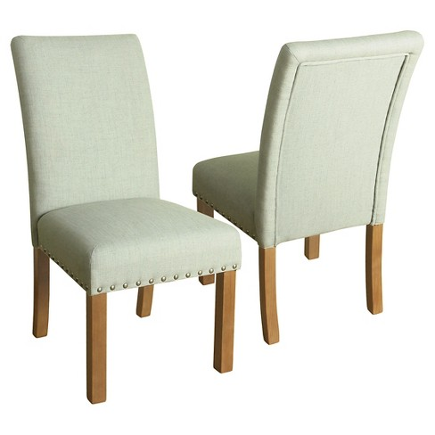 Michele Dining Chair With Nailhead Trim Set Of 2 Homepop