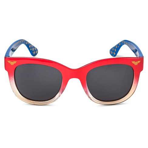 DC Comics Wonder Woman Girls' Oval Sunglasses - Red One Size - image 1 of 2