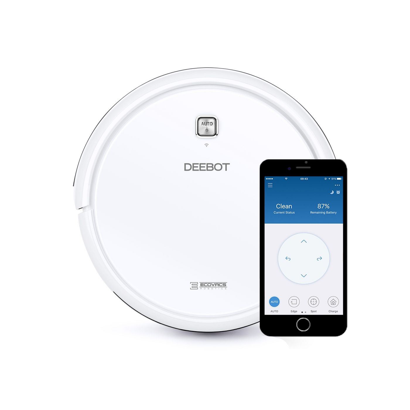 Ecovacs DEEBOT N79W Multi-Surface Robotic Vacuum Cleaner with App Control - image 1 of 5