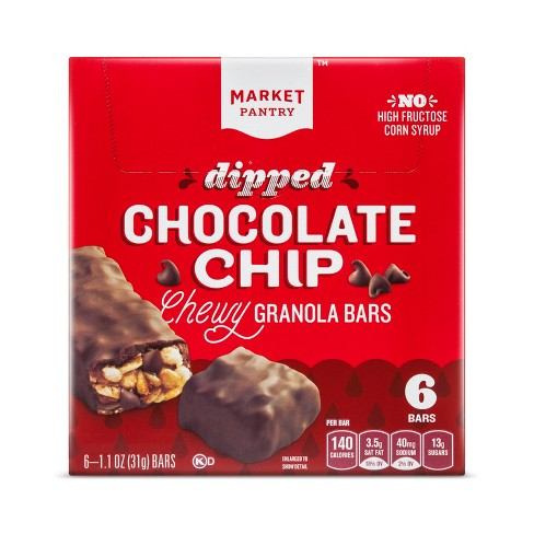 Chocolate Dipped Granola Bars 6ct - Market Pantry™ - image 1 of 1