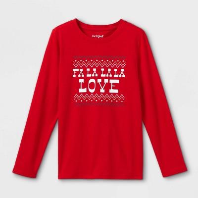 Girls' 'Christmas Unicorn' Long Sleeve Graphic T-Shirt - Cat & Jack™