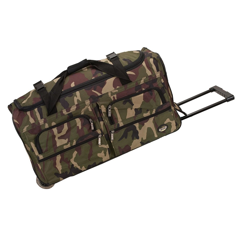 Rockland 36 Rolling Duffel Bag - Camo, Camouflage Green