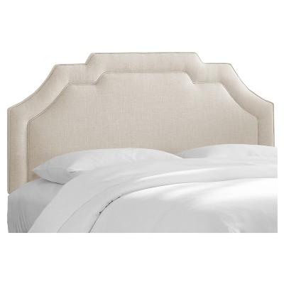 Axel Notched Border Headboard - Queen - Linen Talc - Skyline Furniture®