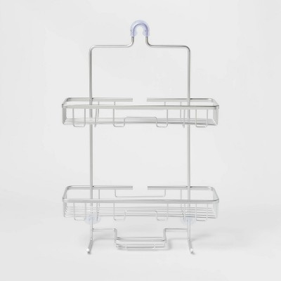 Wide Rustproof Shower Caddy with Lock Top Aluminum - Made By Design™