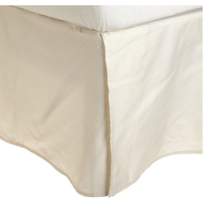 300-Thread Count Cotton Solid Bed Skirt with 15-Inch Drop, King, Burgundy - Blue Nile Mills