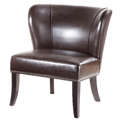 Hilton Concave Back Armless Chair - Brown - image 1 of 4