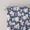 Unlined Silhouette Floral Light Filtering Curtain Panel Navy/Blush - Cloth & Co. - image 4 of 5