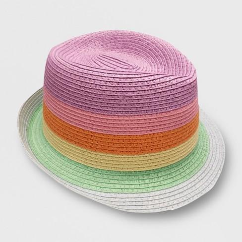 ada014d2d21a64 Toddler Girls' Striped Fedora - Cat & Jack™ 2T-5T : Target