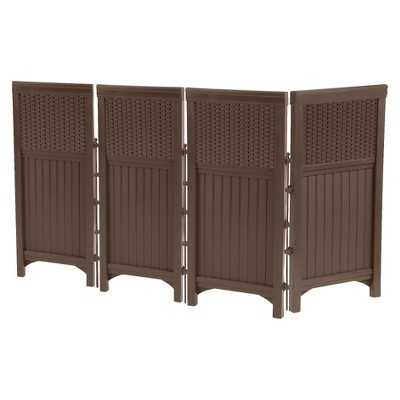 44  Resin Wicker Screen Enclosure - Brown - Java