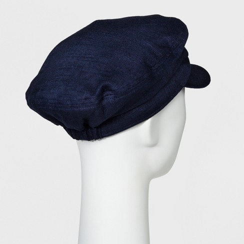 73646f76fc103 ... denmark womens linen blend flat cap mossimo supply co. navy target  99c58 9e160