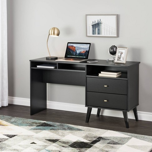 Milo Computer Desk with Side Storage and 2 Drawers - Prepac - image 1 of 4