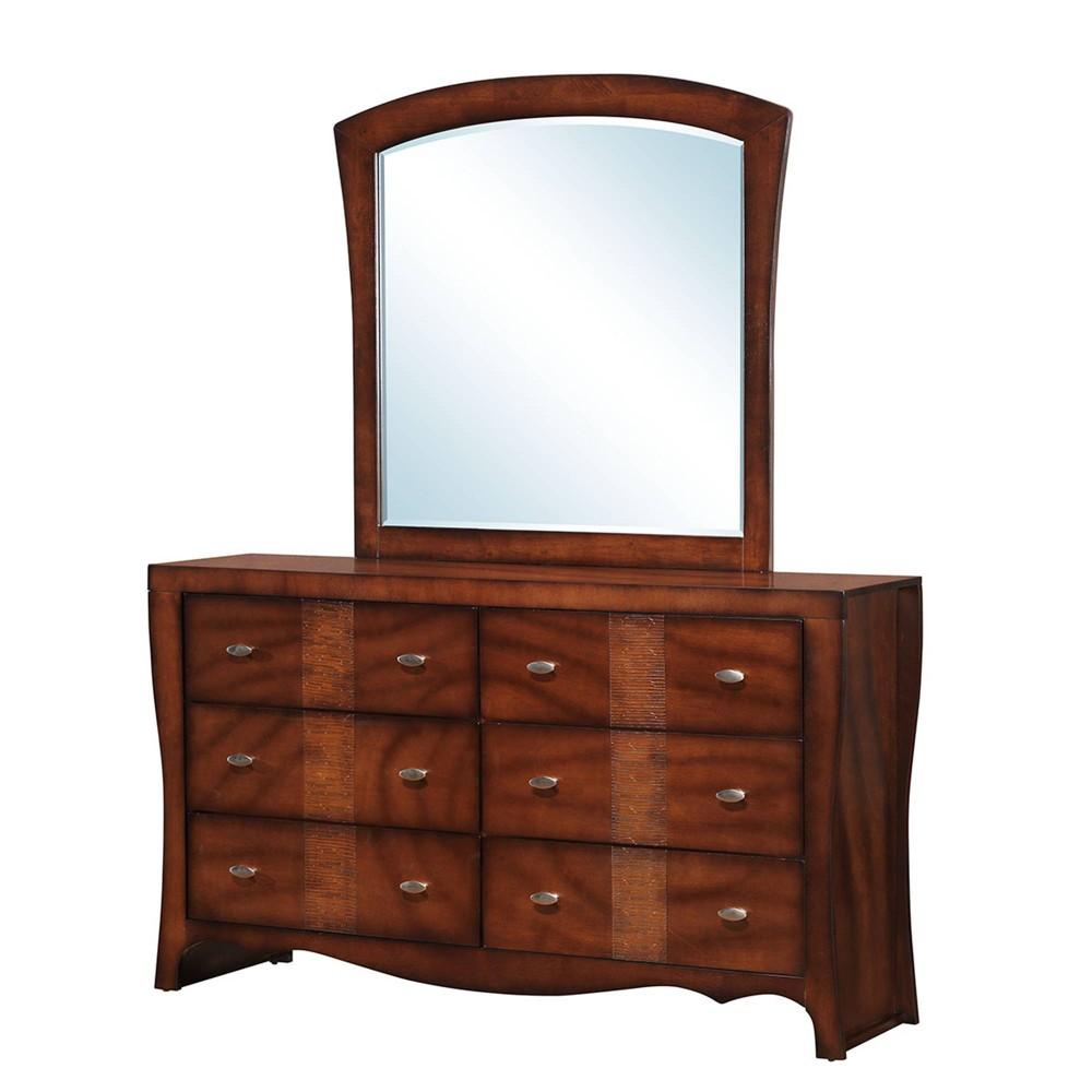 Jansen Dresser and Mirror Set Espresso Brown - Picket House Furnishings