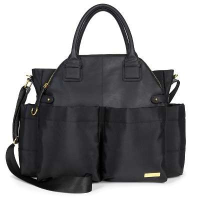 Skip Hop Chelsea Chic Diaper Bag Satchel, Black