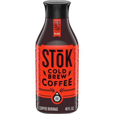 SToK Not Too Sweet Black Cold Brew Iced Coffee - 48 fl oz